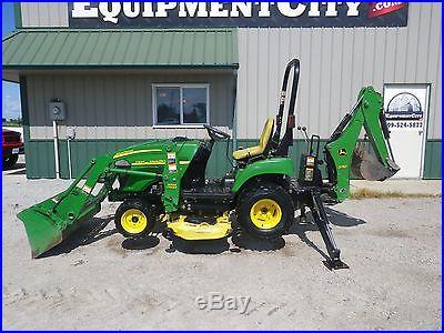05 John Deere 2305 Tractor Loader Backhoe Compact Utility 110 JD Lawn Mower Deck