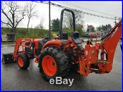 11 Kioti DK40SE HST tractor KL401loader KB2485 backhoe 41hp diesel 4x4 TLB used