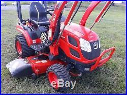 18 Kioti CS2510 sub compact tractor loader Diesel 4x4 60 mower deck used 89 hr