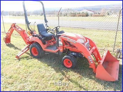 18 pics 2007 Kubota BX24D 112 hour diesel 4x4 hydro tractor w/ LA240 and BT601
