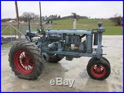 1934 FARMALL F20 NARROW ROW CROP TRACTOR, 29 HP GAS, ELECTRIC START