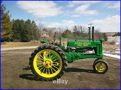 1937 John Deere B Unstyled Antique Tractor NO RESERVE New Tires ROUND SPOKES