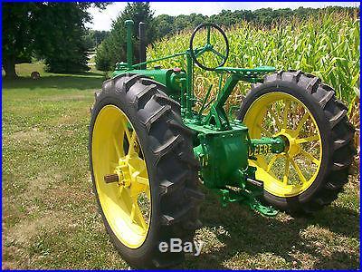 1937 John Deere Unstyled B Antique Tractor New Firestone Tires NO RESERVE