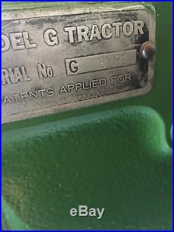 1938 Unstyled John Deere G 2 cylinder Antique tractor