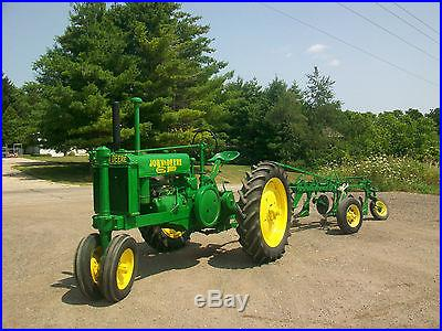 1939 John Deere Unstyled G Antique Tractor With 3 Bottom Plow Completely Rebuilt