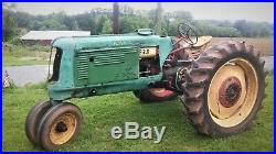 1939 Oliver Tractor and original under tractor cultivator Antique