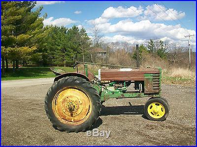 1941 John Deere H Antique Tractor NO RESERVE Original FENDERS