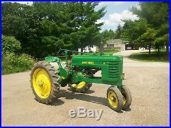 1941 John Deere H Antique Tractor NO RESERVE Runs Good PTO A B G D M R Oliver