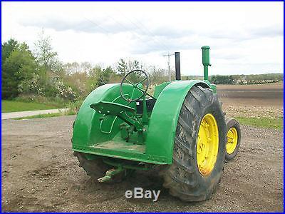 1949 John Deere D Antique tractor NO RESERVE Electric Start Runs Good