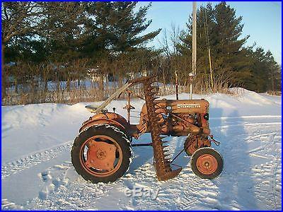 1952 Farmall Cub Antique Tractor NO RESERVE Original Sickle Mower Good Metal