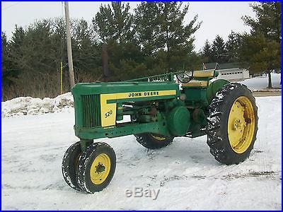 1957 John Deere 520 Antique Tractor NO RESERVE Fenders Power Steering