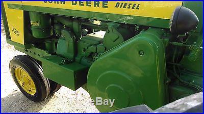 1957 John Deere 720 Diesel w/ Pony. 3 Point Hitch. NO RESERVE. BID TO WIN