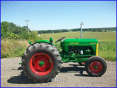 1957 Oliver Super 55 Antique Tractor NO RESERVE Three Point Live PTO Farmall