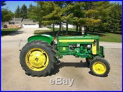 1958 John Deere 420 W Slant Steer Power Steering Antique Tractor NO RESERVE A B