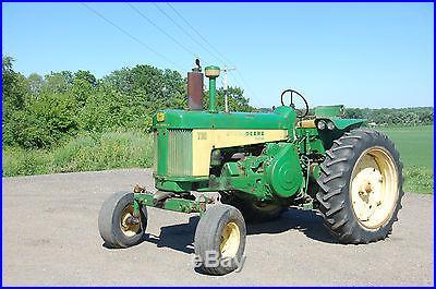 1958 John Deere 730 Diesel Antique Tractor NO RESERVE Wide Front 3 Point Fenders