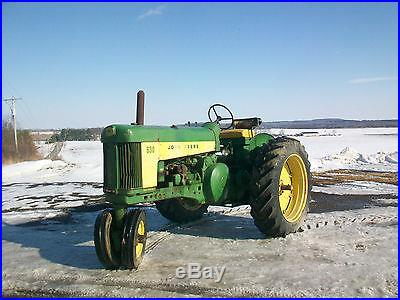 1959 John Deere 630 Antique Tractor NO RESERVE Three Point Hitch Fenders