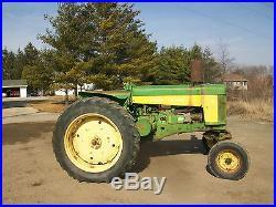 1959 John Deere Electric Start Diesel Antique Tractor NO RESERVE Wide Front