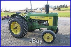 1960 JOHN DEERE 630 STANDARD GAS ANTIQUE TRACTOR, POWER STEERING, 3 PIECE WEIGHT