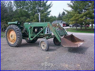 1966 Oliver 770 Tractor NO RESERVE Hydraulic Loader Runs Good Antique Farmall