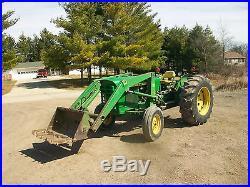 1971 John Deere 1520 Gas Tractor Hydraulic Loader NO RESERVE Antique 3PT PTO
