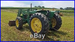 1983 John Deere 2950 Diesel 4x4 Diesel Tractor with 268 Loader Attachment 4WD