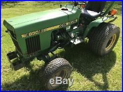 1984 John Deere 650 Compact Utility Tractor 4WD Power Steering