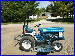 1986 Ford 1210 Compact Utility Tractor NO RESERVE MFWD Mower Snowblower Diesel