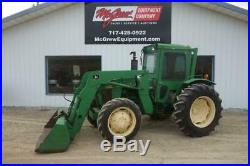 1986 JOHN DEERE 1250 TRACTOR With LOADER 1142 HRS 44HP DIESEL 4X4 CAB 540 PTO
