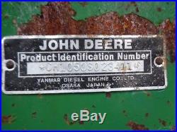 1987 John Deere 1050 Tractor, 4WD, JD80 Front Loader, R1 Tires, 1,542 Hours