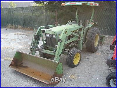 1987 John Deere 850 Tractor with Loader and Scraper 2545 Hours Not Running