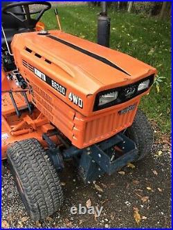 1989 Kubota B6200 4WD Diesel Tractor Gear 60 Mower Deck Clean Unit Vintage PA