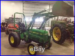 1990 JOHN DEERE 955 MFWD COMPACT TRACTOR WITH LOADER HYDRO TRANSMISSION