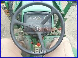 1992 John Deere 770 Compact Loader Tractor 2 Post Rops 4x4 3 Pt 540 Pto 1453 Hrs