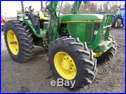 1994 John Deere 6200 Tractor, 4WD, JD640 Self-Leveling Loader, Power Quad