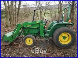 1995 John Deere 870 tractor loader 28hp Yanmar diesel 4x4 gear used compact turf
