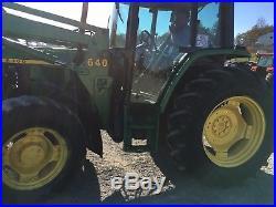 1997 John Deere 6300 4wd tractor with cab & 640 loader, bucket AC heat, 3 pt, PTO