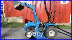 1999 NEW HOLLAND TC29D 4X4 COMPACT TRACTOR With LOADER & BELLY MOWER HYDROSTATIC