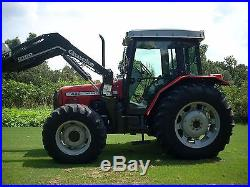 1 OWNER MASSEY FERGUSON 492 CAB TRACTOR 4X4 +LOADER+ VERY NICE