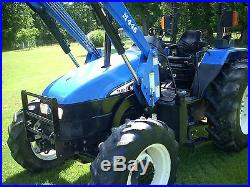 1 OWNER NEW HOLLAND TL80 DELUXE 4X4+ LOADER+ WITH 2015HOURS