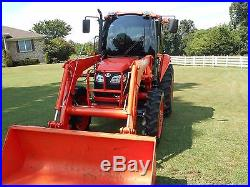 1 Owner 2011 Kubota M7040 Cab+loader+ 4x4 With Hydraulic Shuttle Trans- 414hrs