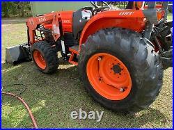 1 Owner, Kubota Gl3130 Tractor With Loader, Bushhog & Box Blade Low Hours