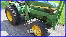 2000 JOHN DEERE 790 4X4 COMPACT UTILITY TRACTOR With LOADER 30HP DIESEL 523 HOURS