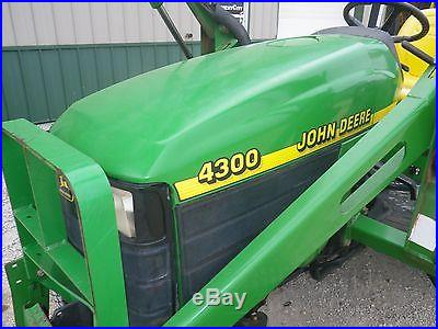 2000 John Deere 4300 Compact Utility Q/T Loader Tractor 4X4 Hydro Q/T Bucket