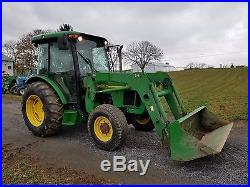 2001 John Deere 5420 Ag Utility Farm Tractor Diesel Engine 541 Loader 81 HP 4x4