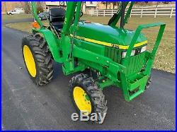 2001 John Deere 790 Tractor 4x4 Loader
