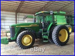 2001 John Deere 8210 Tractor 185hp John Deere 16 Speed Power Shift MFWD