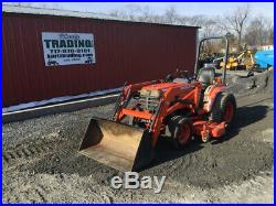 2001 Kubota B2400 4x4 Hydro Compact Tractor with Loader & Mower Only 900Hrs