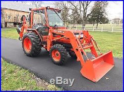 2001 Kubota Grand L3010 Tractor Loader Backhoe Heated Cab 155 Hours