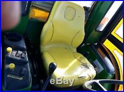 2002 John Deere 4210 cab tractor loader 27hp Yanmar diesel 4x4 HST used 1665 hr