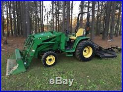 2002 John Deere 4310 Diesel 4x4 tractor front end loader bush hog